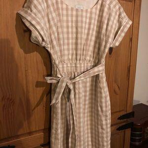 Anthropologie Checkered Day Dress
